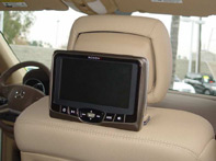 Slim Line Dual Headrest Video System specialty applications for Mercedes Benz AV7700